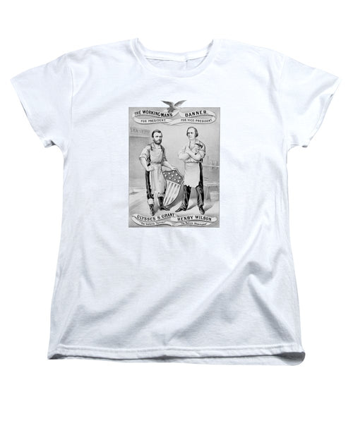 Grant And Wilson 1872 Election Poster  - Women's T-Shirt (Standard Fit)