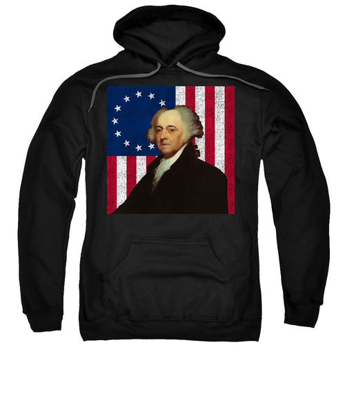 John Adams And The American Flag - Sweatshirt