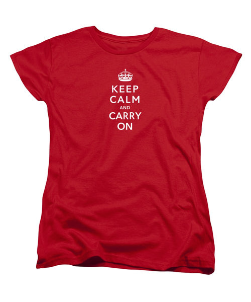 Keep Calm And Carry On - Women's T-Shirt (Standard Fit)