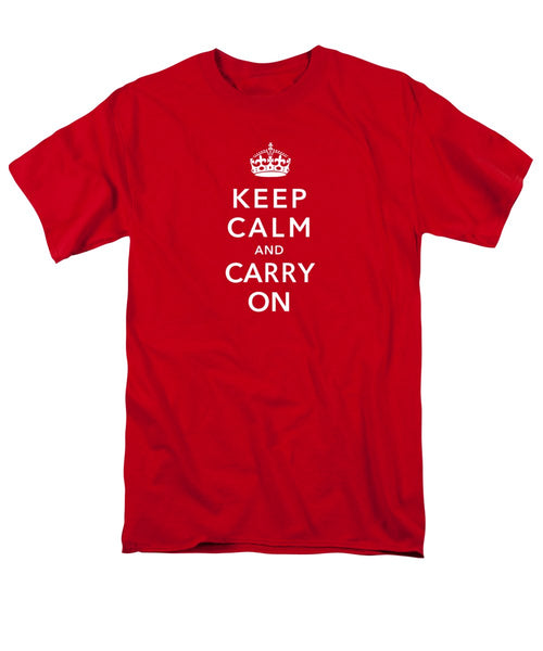 Keep Calm And Carry On - Men's T-Shirt  (Regular Fit)