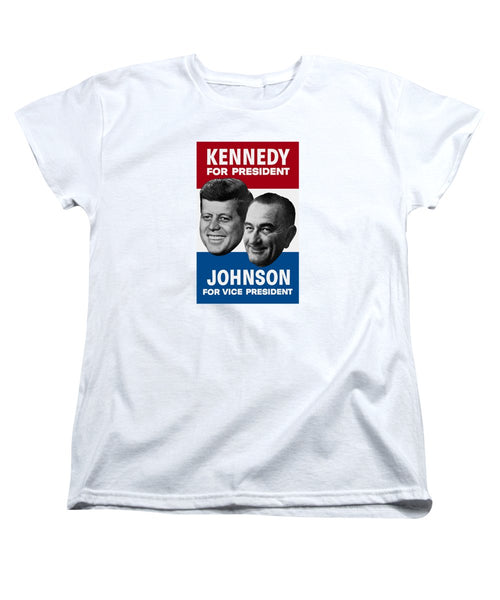 Kennedy And Johnson 1960 Election Poster - Women's T-Shirt (Standard Fit)