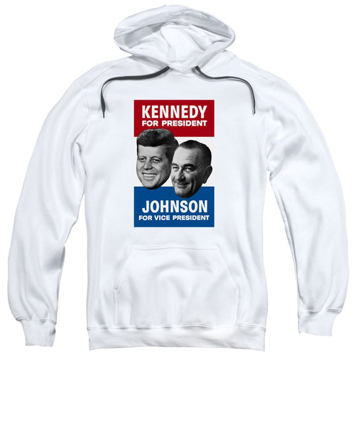 Kennedy And Johnson 1960 Election Poster - Sweatshirt