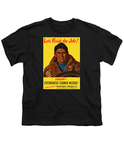 Let's Finish The Job - Merchant Marine Youth T-Shirt