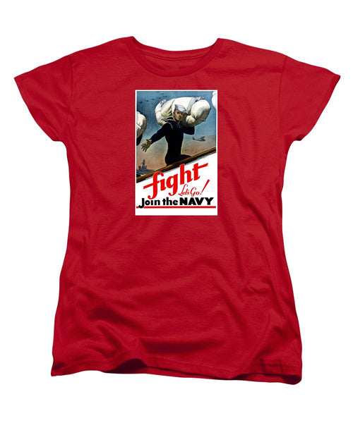 Let's Go Join The Navy - Women's T-Shirt (Standard Fit)
