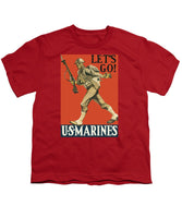 Let's Go - Vintage Marine Recruiting - Youth T-Shirt