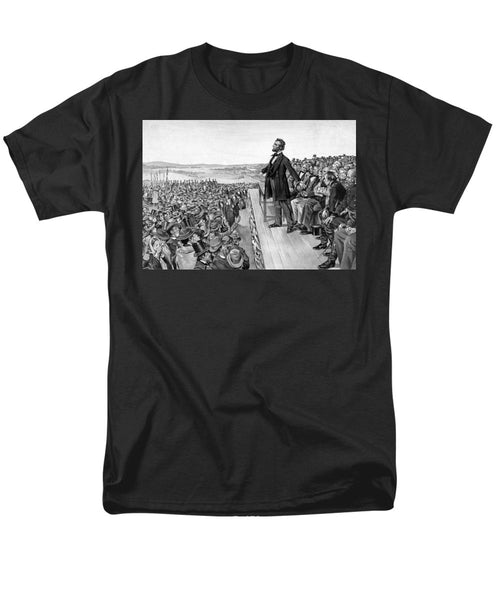 Lincoln Delivering The Gettysburg Address - Men's T-Shirt  (Regular Fit)