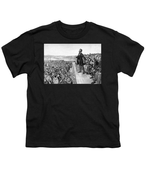 Lincoln Delivering The Gettysburg Address - Youth T-Shirt