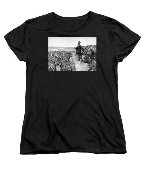 Lincoln Delivering The Gettysburg Address - Women's T-Shirt (Standard Fit)