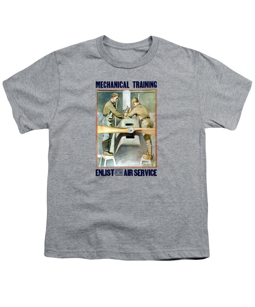 Mechanical Training - Enlist In The Air Service - Youth T-Shirt