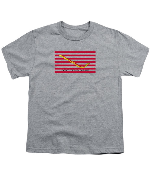 Navy Jack Flag - Don't Tread On Me - Youth T-Shirt