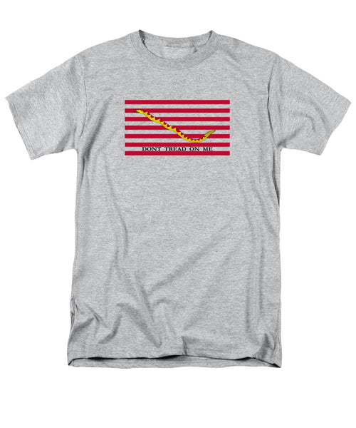 Navy Jack Flag - Don't Tread On Me - Men's T-Shirt  (Regular Fit)