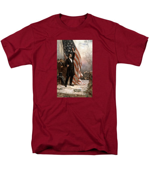 President Abraham Lincoln Giving A Speech - Men's T-Shirt  (Regular Fit)