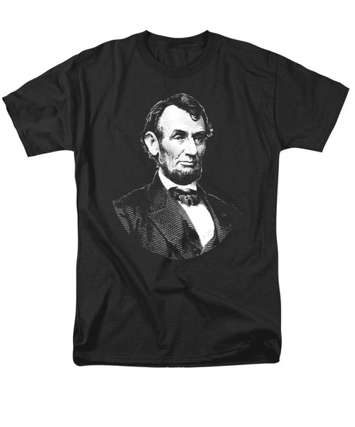 President Abraham Lincoln Graphic - Black And White - Men's T-Shirt  (Regular Fit)