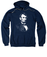 President Abraham Lincoln Graphic - Black And White - Sweatshirt