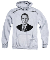 President Barack Obama Graphic - Black And White - Sweatshirt