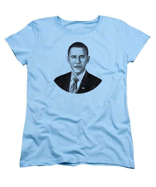 President Barack Obama Graphic - Black And White - Women's T-Shirt (Standard Fit)