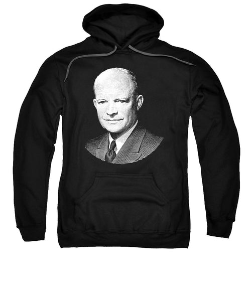 President Dwight Eisenhower Graphic - Black And White - Sweatshirt
