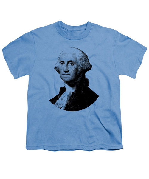 President George Washington Graphic - Black And White - Youth T-Shirt