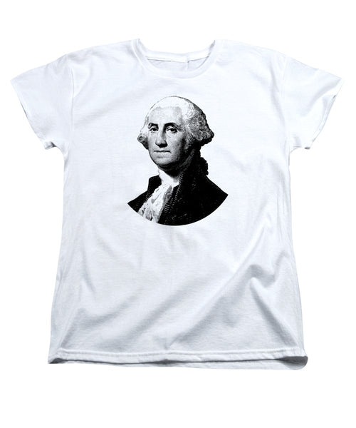 President George Washington Graphic - Black And White - Women's T-Shirt (Standard Fit)