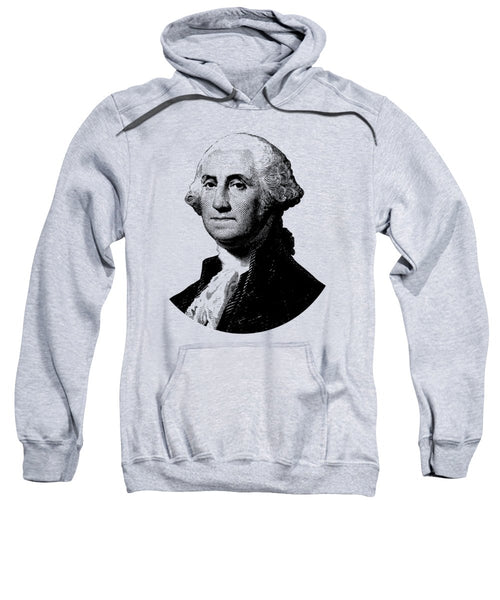 President George Washington Graphic - Black And White - Sweatshirt