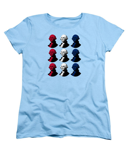 President George Washington - Red, White, And Blue  - Women's T-Shirt (Standard Fit)