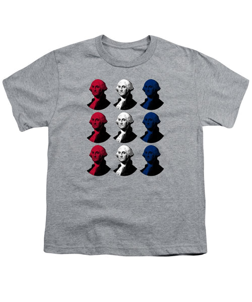 President George Washington - Red, White, And Blue  - Youth T-Shirt