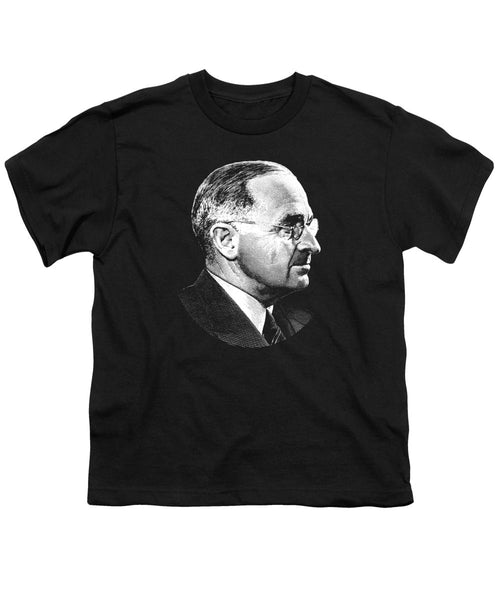 President Harry Truman Profile Portrait - Youth T-Shirt