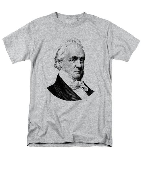 President James Buchanan Graphic - Black And White - Men's T-Shirt  (Regular Fit)