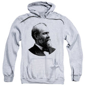 President James Garfield Graphic - Black And White - Sweatshirt