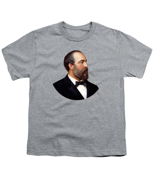 President James Garfield Painting - Youth T-Shirt