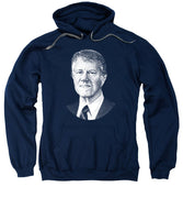 President Jimmy Carter Graphic - Black And White - Sweatshirt