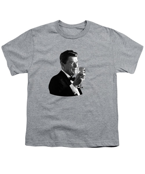 President Reagan Making A Toast - Youth T-Shirt