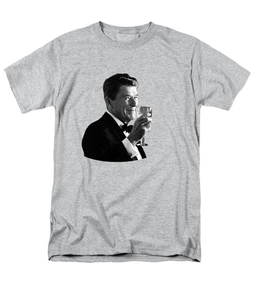 President Reagan Making A Toast - Men's T-Shirt  (Regular Fit)