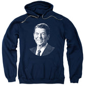 President Ronald Reagan Graphic - Black And White - Sweatshirt