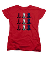 President Teddy Roosevelt - Red, White, And Blue - Women's T-Shirt (Standard Fit)