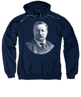 President Theodore Roosevelt Graphic - Black And White - Sweatshirt