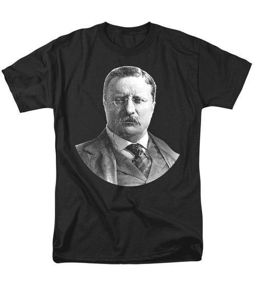 President Theodore Roosevelt Graphic - Black And White - Men's T-Shirt  (Regular Fit)
