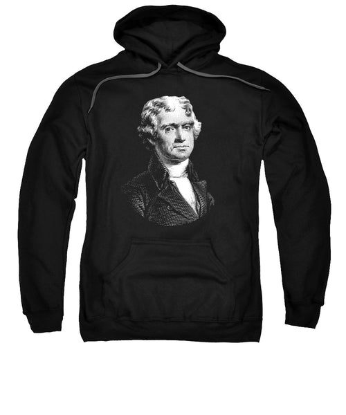 President Thomas Jefferson - Black And White - Sweatshirt