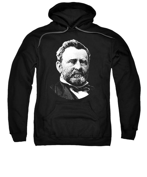 President Ulysses Grant Graphic - Black And White - Sweatshirt