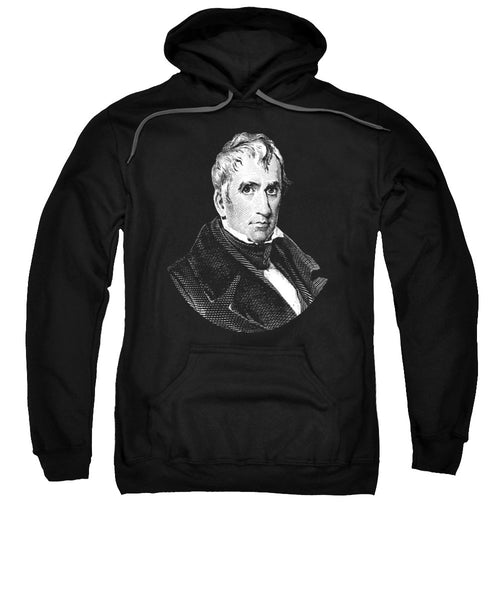 President William Henry Harrison Graphic - Black And White - Sweatshirt