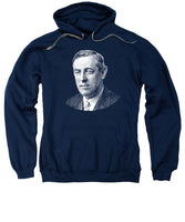 President Woodrow Wilson Graphic - Black And White - Sweatshirt
