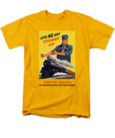 Railroads Are The First Line Of Defense - Men's T-Shirt  (Regular Fit)