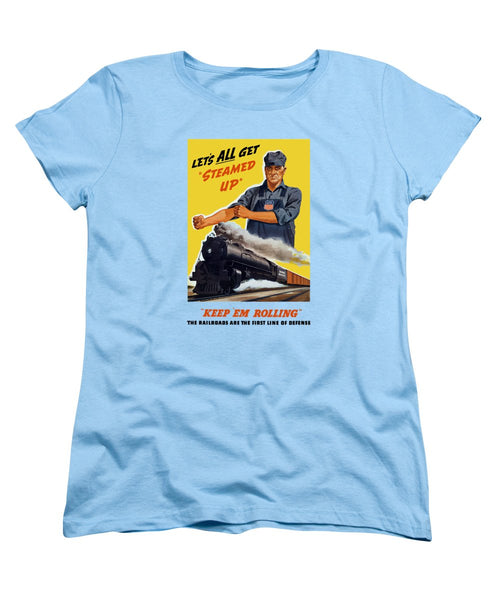 Railroads Are The First Line Of Defense - Women's T-Shirt (Standard Fit)