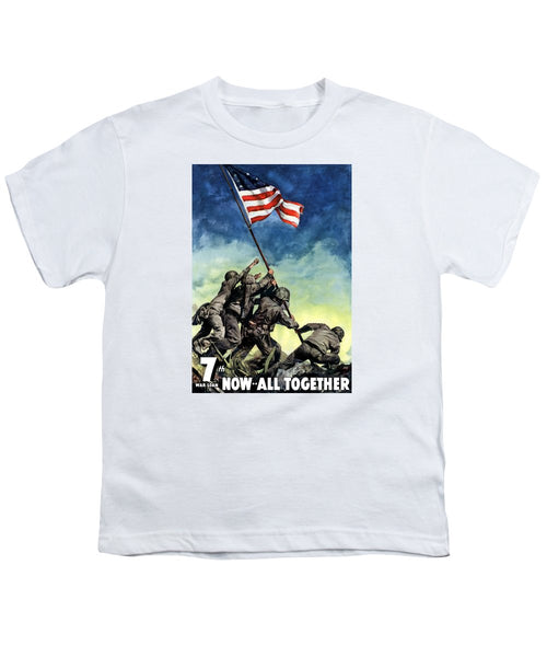 Raising The Flag On Iwo Jima - Youth T-Shirt