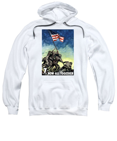 Raising The Flag On Iwo Jima - Sweatshirt