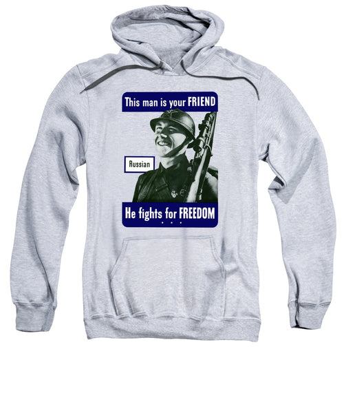 Russian - This Man Is Your Friend - Sweatshirt