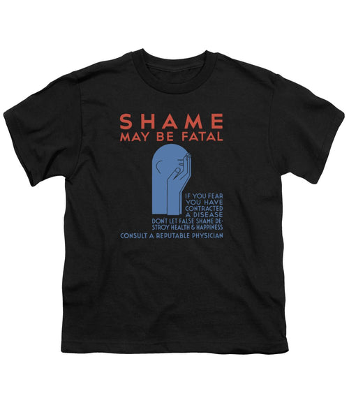 Shame May Be Fatal - Vintage STD - Youth T-Shirt