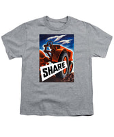 Share - Vintage Tractor - WW2 Propaganda - Youth T-Shirt