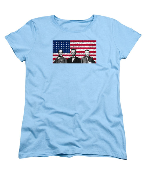 Sherman - Lincoln - Grant - US Flag - Women's T-Shirt (Standard Fit)
