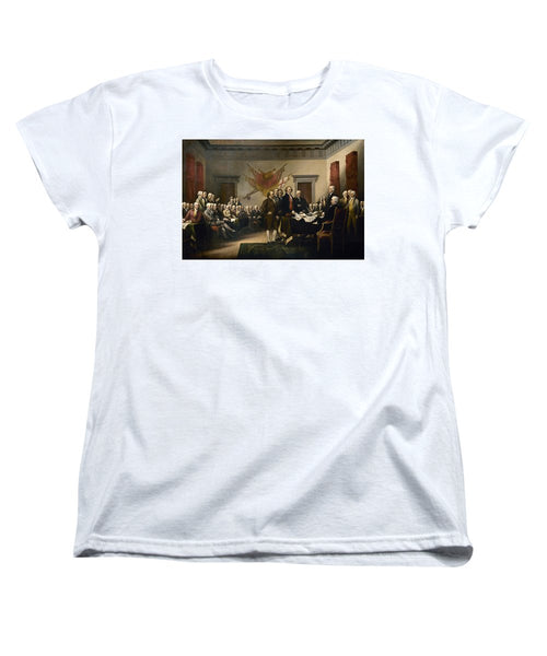 Signing The Declaration Of Independence - Women's T-Shirt (Standard Fit)